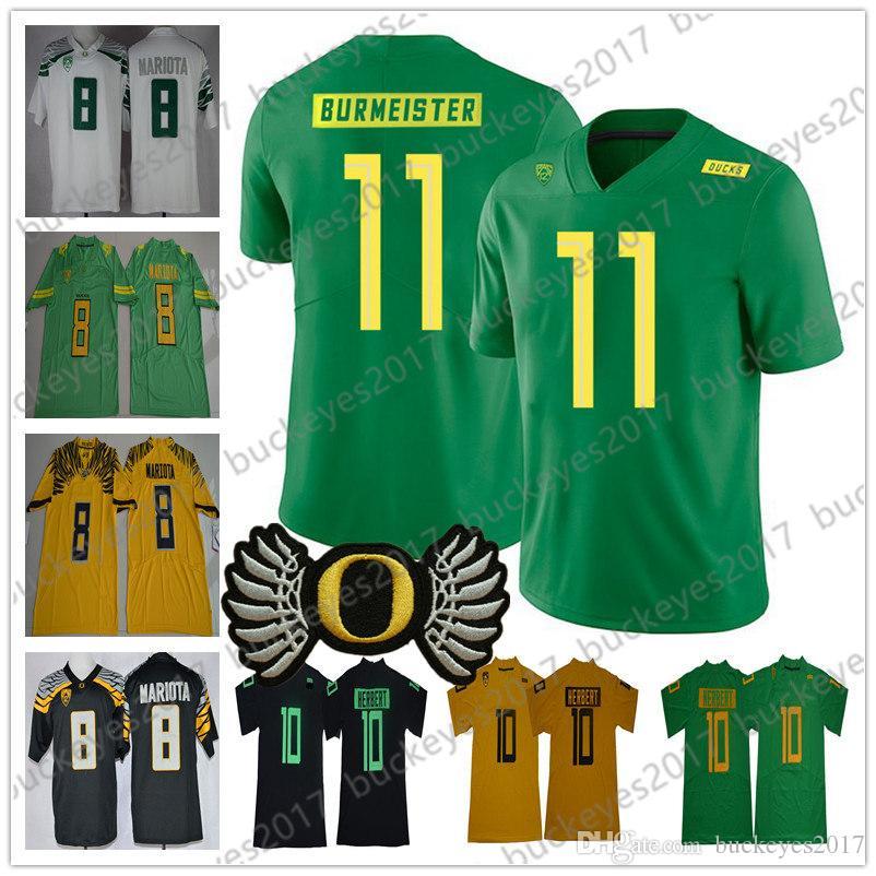 NCAA OREGON PUTOS # 11 BRATONTON BURMEISTER 17 Mike Irwin 26 Travis Dye 85 Kano Dillon 7 UgoChukwu Amadi White Black Black Green Yellow Jersey