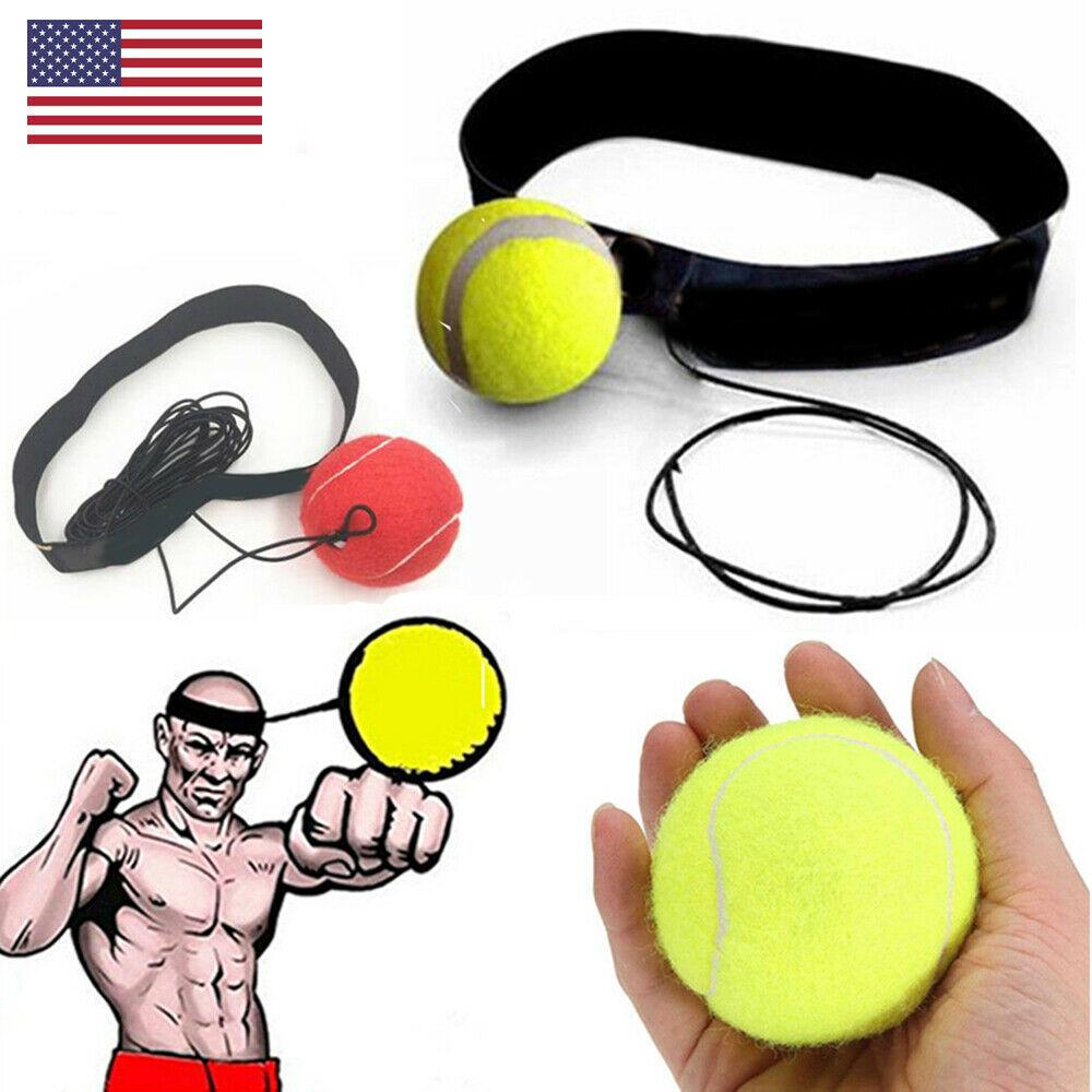 Fight Ball With Head Band For Reflex Speed MMA Training Boxing Punch Exercise US