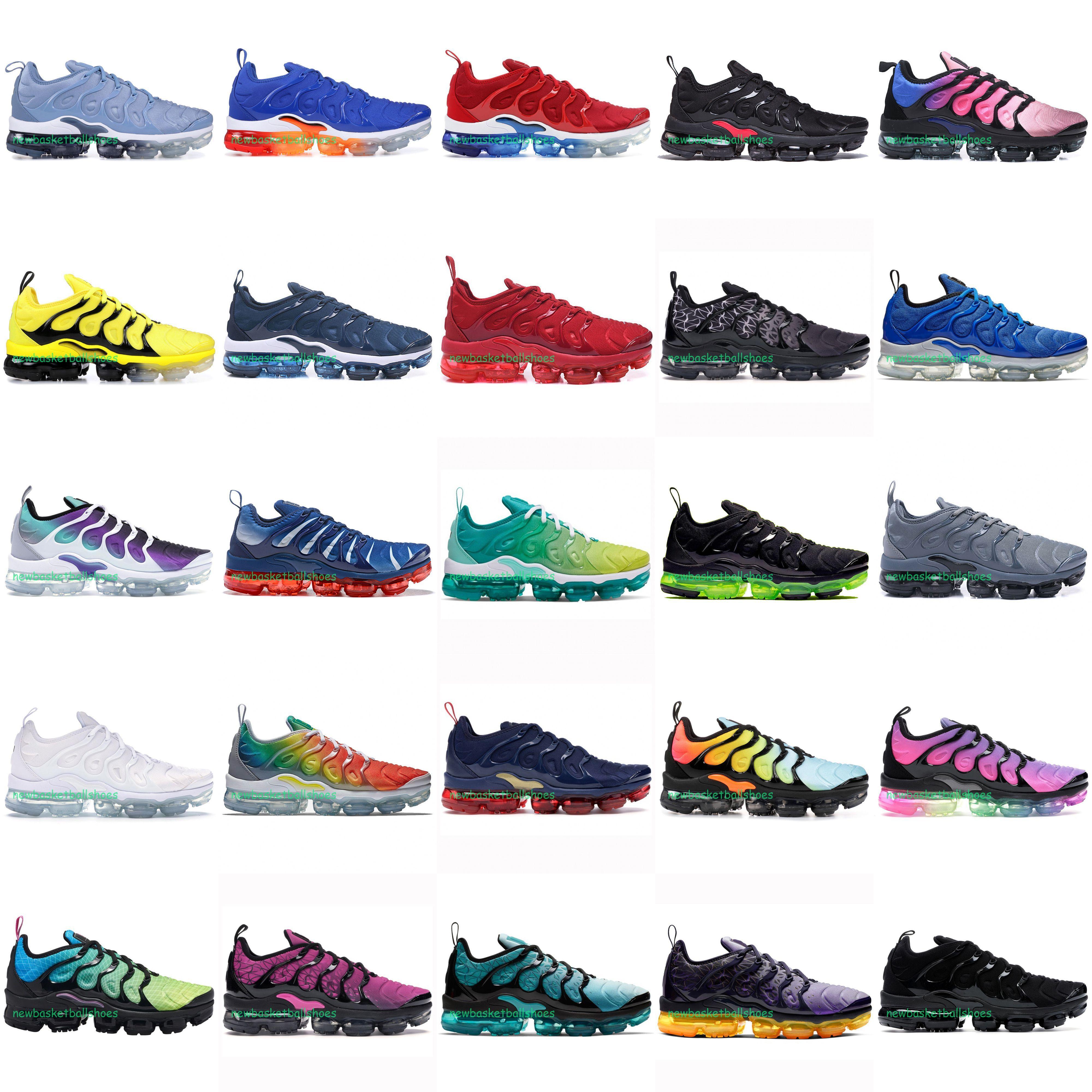 2020 Universidad azul TN Plus Racer rojo de las mujeres zapatos para hombre deportes corrientes de diseño Espíritu Teal geométricas activo del arco iris de los hombres zapatillas de deporte Trainer