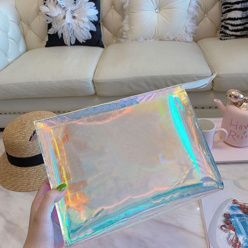 Dazzle Мужчины сцепления лазерной вспышки ПВХ Клатчи Сумки Прозрачная сумка Duffle Brilliant Color сумки сумка тотализатор сумка
