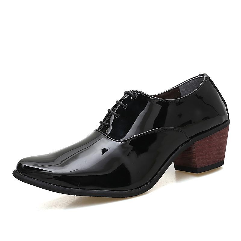 Herrenlederschuhe mit Oxford Business Casual Schuhe Herren Schwarz Rot Klassische Spitz Tanz neu