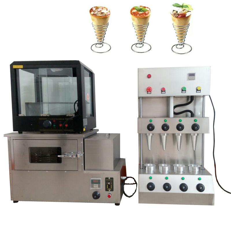 New high quality pizza machine rotary oven machine stainless steel pizza cone machine with pizza display cabinet for sale