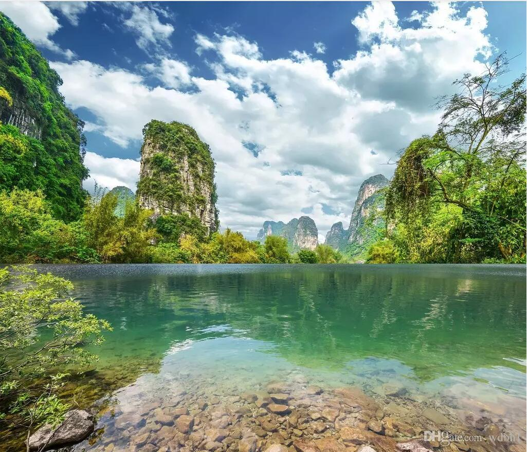 3d wallpaper custom photo murals Guilin landscape natural scenery HD landscape painting living room background wall wallpaper for walls 3 d