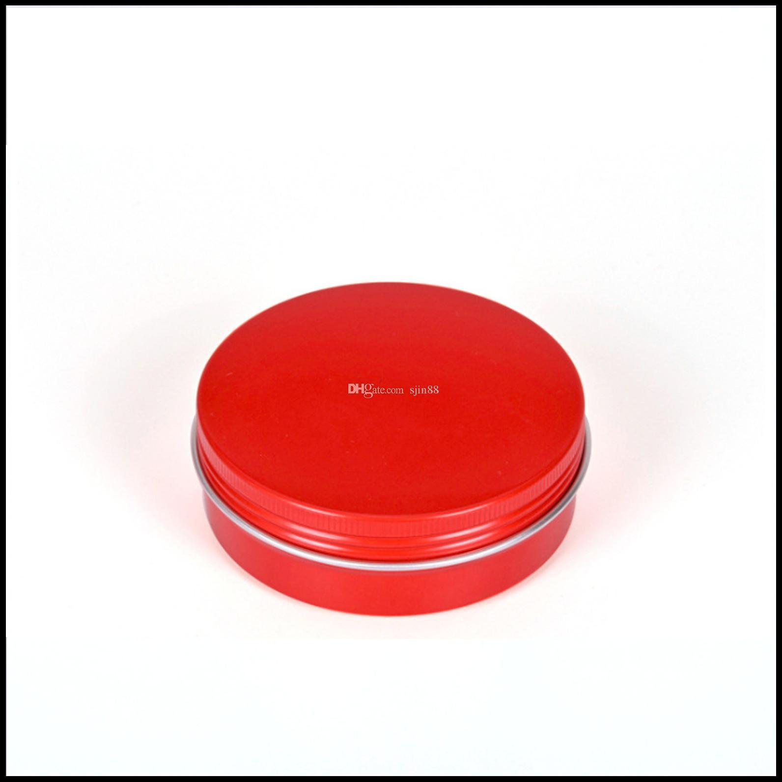 Red Jar Aluminiumdosen 100g mit Schraubverschluss und nachfüllbare Tins Kosmetische Behälter Speisen Tea Jar