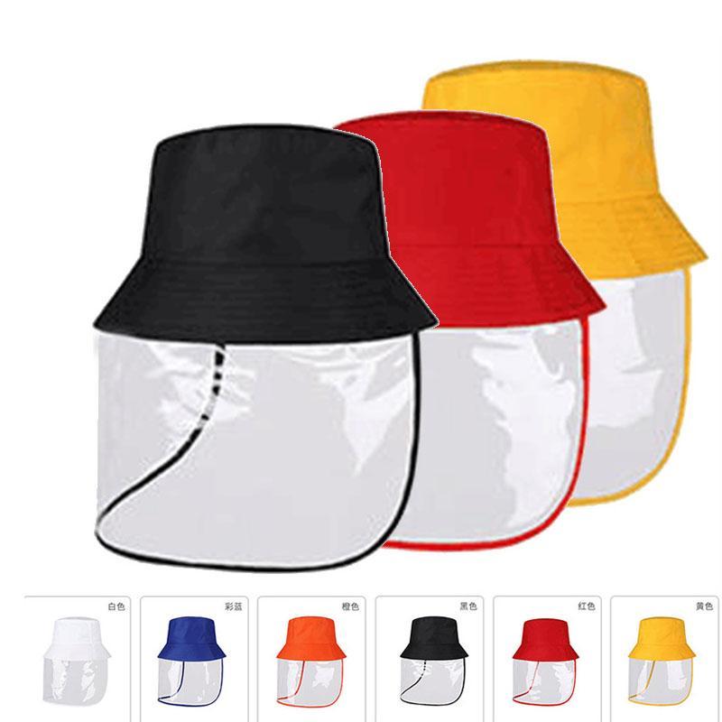 Chapeau avec seau écran facial masque protecteur facial transparent Chapeau anti-pollution pour les femmes épidémie Preuve de protection chapeau de pêcheur de sable