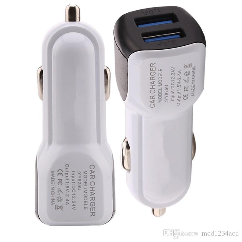 porte USB doppio universale mini micro usb caricabatterie da auto adattatore 2.1A per l'iPhone Samsung Galaxy S4 S6 S7 S8 nota 8 htc android phone GPS MP3