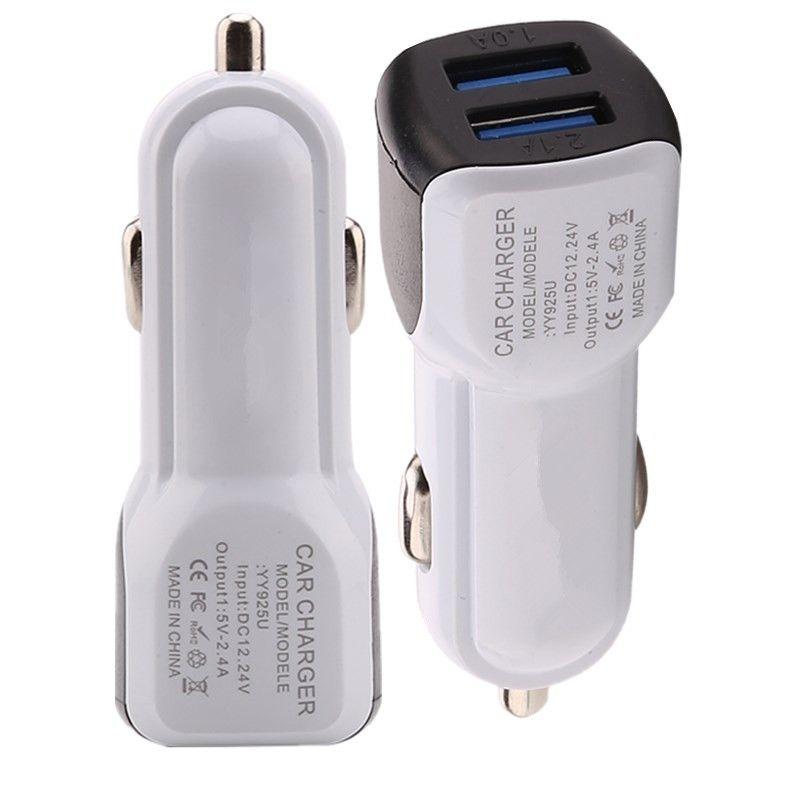 Universal-Doppel-USB-Ports mini micro USB-Autoladegerät 2.1A Adapter für iphone Samsung Galaxy S4 s6 s7 s8 Anmerkung 8 htc Android-Handy gps mp3