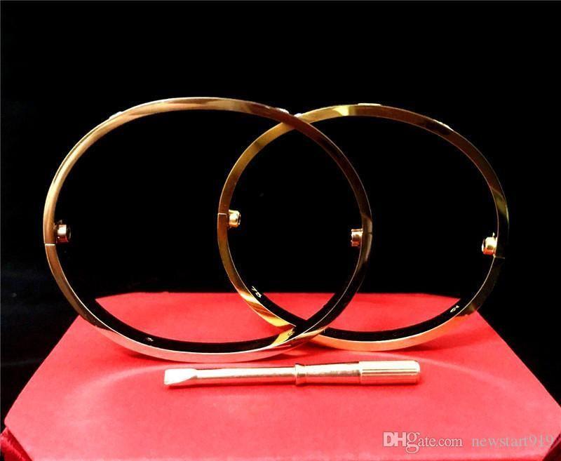 nuovi gli uomini e le donne di stile Amore vite bracciali in argento rosa braccialetto d'oro con un cacciavite il braccialetto per gli amanti della gioielleria