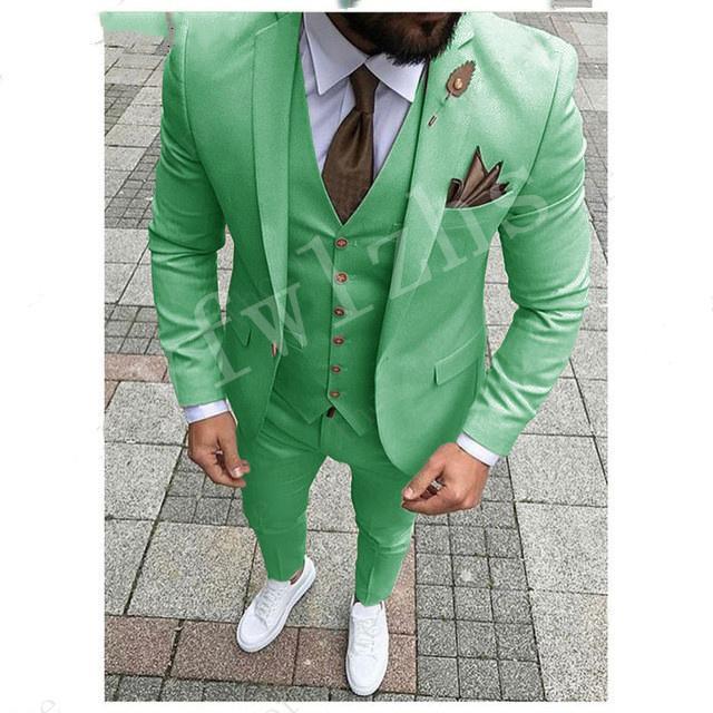 Klasik Tek Düğme Yakışıklı Groomsmen Notch Yaka Damat smokin Erkekler Suits Düğün / Balo Sağdıç Blazer (Ceket + Pantolon + Vest + Tie) W126