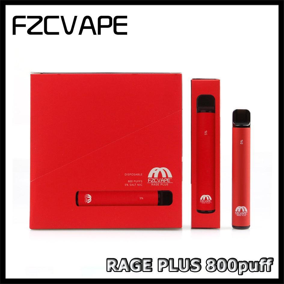 100% Original FZCVAPE Rage Plus Disposable Pod Device 550mAh 3.2ml Prefilled Vape Pen Stick for Blow Buzz Air Bar Empty