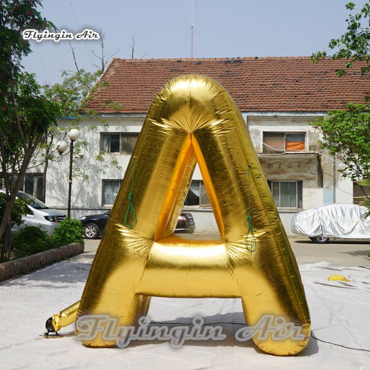 옥외 광고 팽창 식 풍선 주문 3m 고도는 Bringer를 가진 황금 편지를 갑자기 장식한다 입구 훈장을 위해