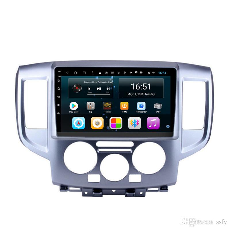 Android car RADIO built-in wifi with precise GPS HD 1080 microphone multimedia player free map lossless music for Nissan NV200 10.1inch