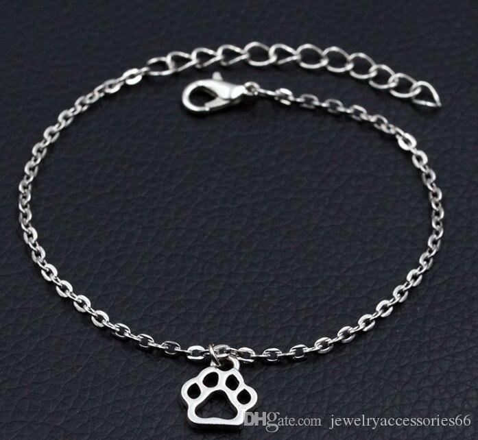 New Personalized Dog Paw Prints Bracelet Antique Silver Animal Diy Handmade Bracelet Women Fashion Jewelry Gold Charm Bracelet Charm Bracelets Uk From Jewelryaccessories66 0 57 Dhgate Com