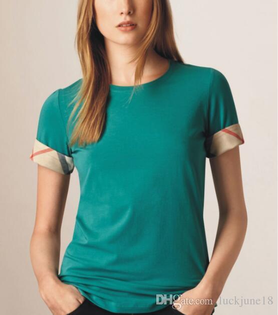2019 NEUE frauen Baumwolle Kurzarm T-Shirt Hohe Qualität 100% Casual frauen Kurzarm Größe S-XXL bgfhk