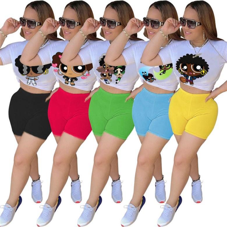 Kadınlara özel kıyafetler kısa kollu 2 parçalı set eşofman koşu sportsuit gömlek şort kıyafetler sweatshirt pantolon spor takım elbise sıcak satış klw4203
