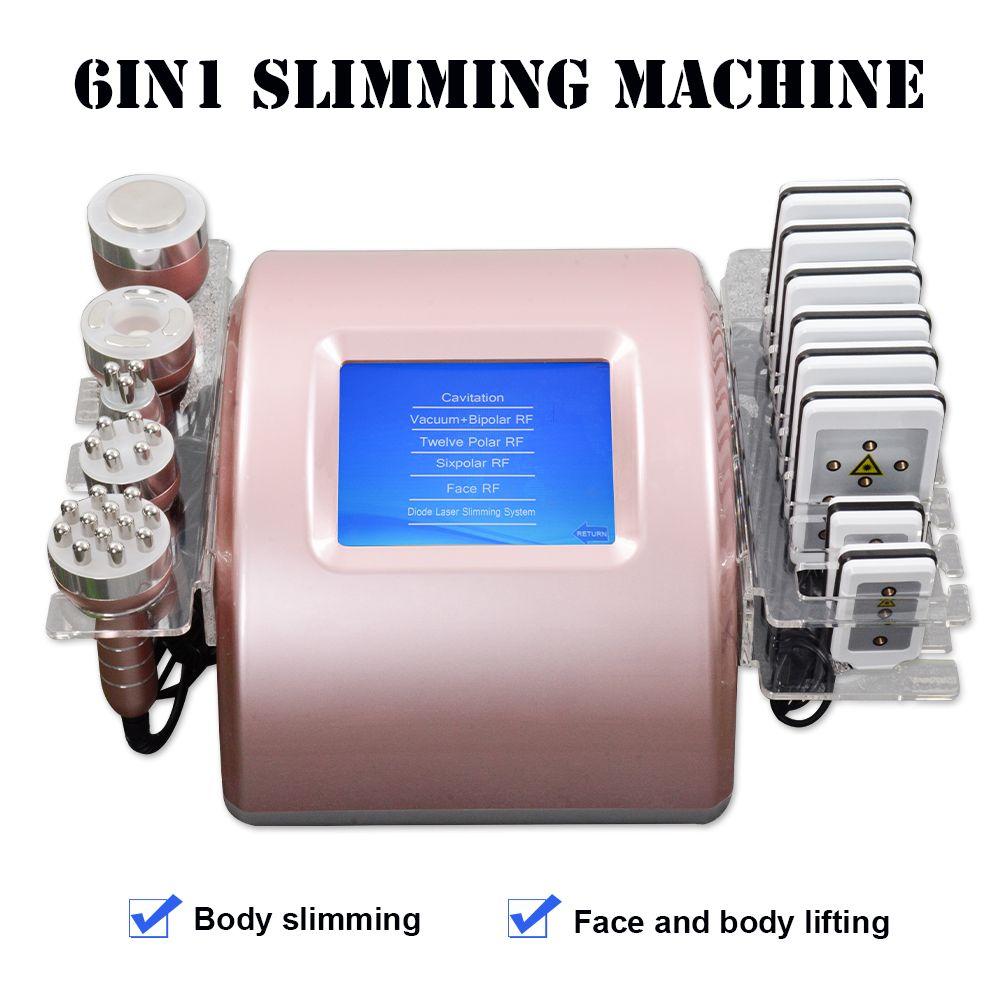 Melhor 5in1 lipolaser emagrecimento máquina RF Equipamento de cavitação e lipolaser máquina de emagrecimento do corpo de emagrecimento RF