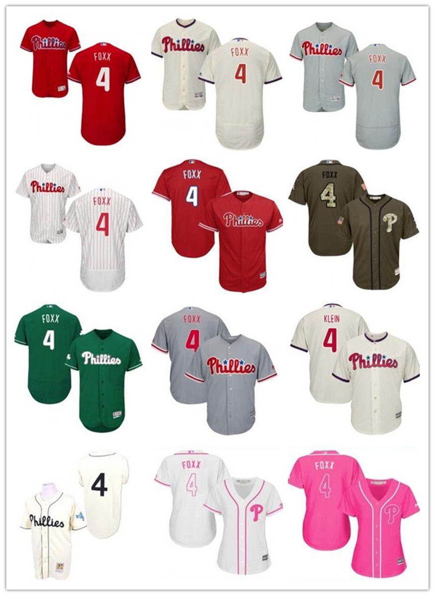 freies Schiff benutzerdefinierte Philadelphia Philadelphia Phillies 4 Jimmy Foxx T-Shirt, Baseball Phil Wear Männer Frauen Jugend Trikots