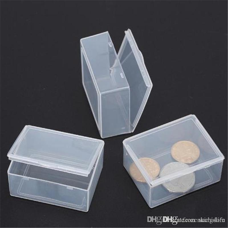 5.3*4*1.9CM Mini Hard Clear Plastic Jewelry Necklace Craft Beads Makeup Storage Box Case / Organizer / Holder / Container 2019040106