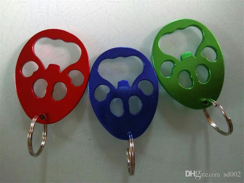 Jack Wolf-Skin Aluminium Alloy Bottle Opener Reusable Creative Key Ring Openers Popular With Red Blue Green Color 0 85dj J1