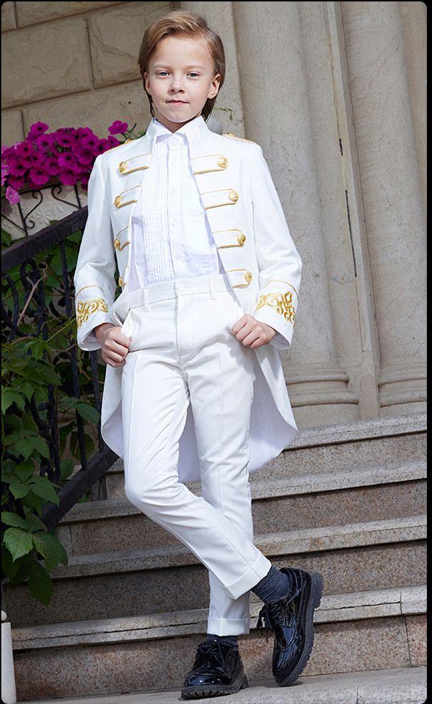 Красивый двубортный Мандарин отворот малыша полный дизайнер Красивый мальчик свадебный костюм мальчиков наряд на заказ (куртка+брюки+галстук) A37