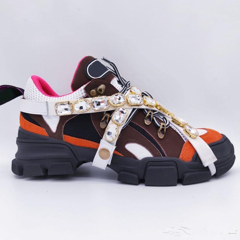 FlashTrek Sneaker con cristalli rimovibili progettista del mens di lusso scarpe casual scarpe fashion designer di lusso Sneakers C01