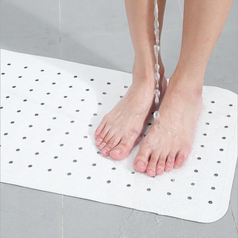 White Rubber Bathroom Kids Non-slip Area Rugs Multipurpose Feet Mat Anti-Slip Kitchen Door Carpet Toilet Bath Tub Shower Rug Mat