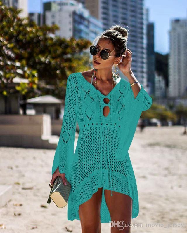 2020 Yeni Yaz Bikini Yüzme Küçük Kelebek Desen Plaj Kapak Şal Mix Renkler Kapak-UPS Serin Giysiler Damla Drop