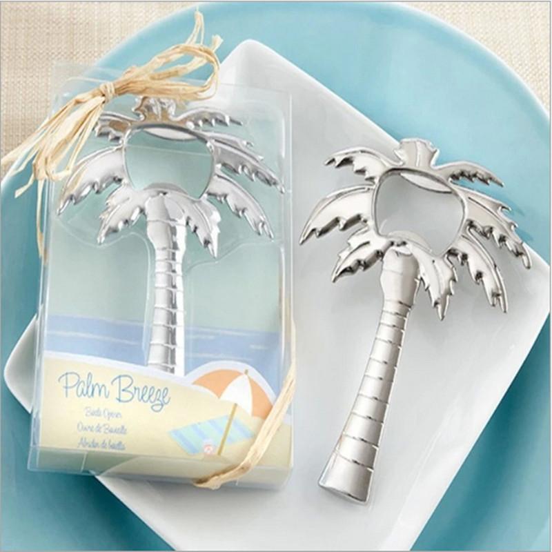 Regalo di nozze Opener nuovi arrivi in acciaio inox Palma da cocco birra Wine Bottle Opener favore di cerimonia nuziale Beach nuziale Ospite regalo 2017