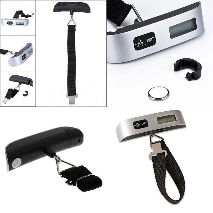 weight scale wholesale 50kg Digital Travel Weighing Luggage Scales Handheld Electronic Suitcase Bags with retail box