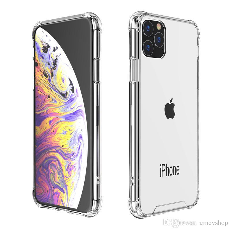 Clear Air Bag Acrílico Tampa traseira para iPhone 12 11 Pro Max 6 7 8 Plus X XR XS Max XR Anti-Knock Cover Samsung S9 S10 S20 Plus Note 9 Note10