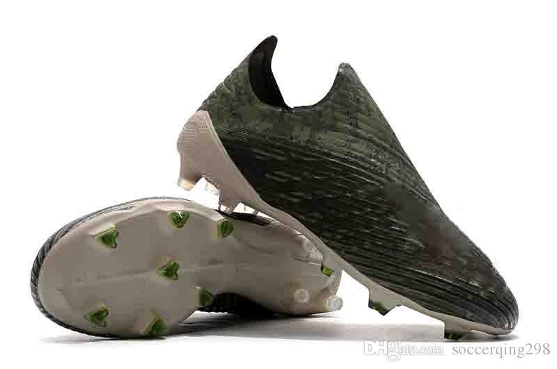 عالية الجودة لكرة القدم المرابط X 18+ FG كود التشفير ماء كأس العالم تصفيح FG أحذية كرة القدم X19 + حجم الأزرق أسود أخضر 39-45