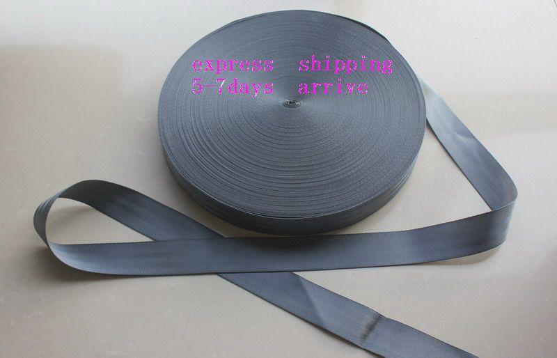 50 метров Ролл Ремень безопасности лямки ремень серый цвет 48mm Wide 5 Бары