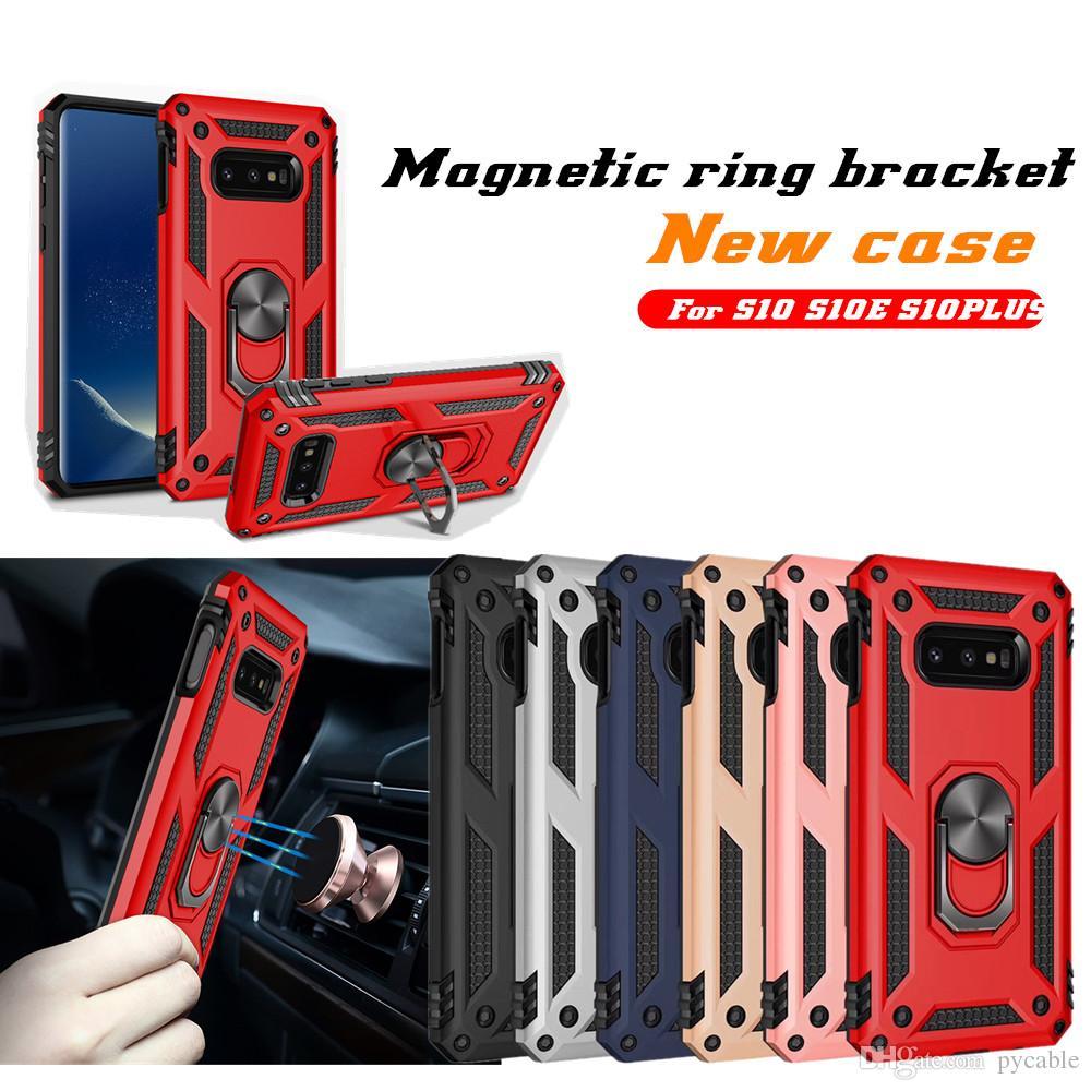 Hybrid-Rüstung-Abdeckung für für Iphone 11 Pro Max XR X XS 8 7 Samsung Anmerkung 10 Pro A70 A20E A2 CORE A70 M30S HUAWEI P30 magnetischer Standplatz-Rüstungs-Kasten