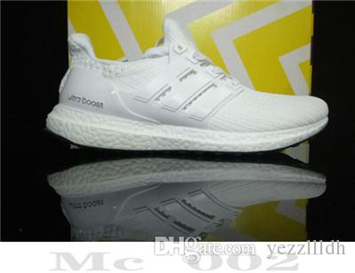 High Quality Ultraboos 3.0 4.0 Chaussures de course Uncaged Hommes Femmes Ultra Booss 3.0 III Primeknit Runs Athletic Blanc Noir Pointure 36-45 T1B2