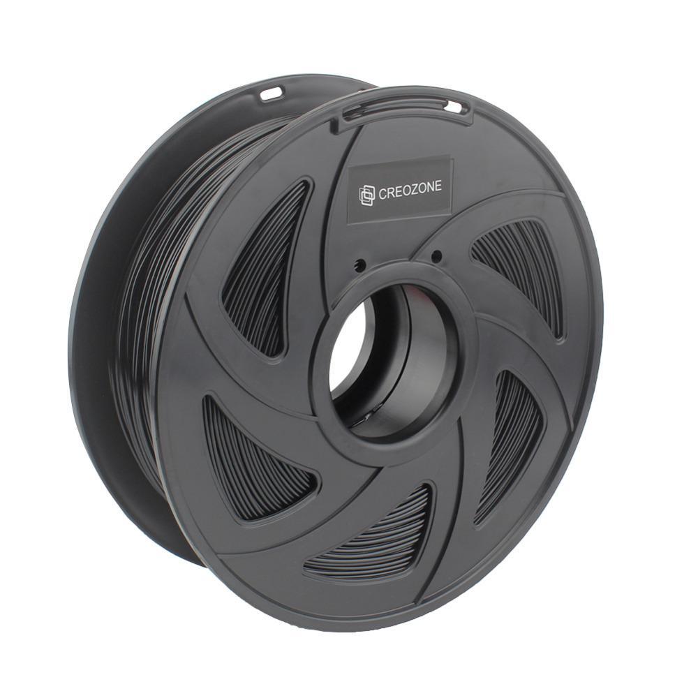 Freeshipping Premium PETG Filamento 1.75mm 1 kg Carrete Gran transparencia y claridad Impresora 3D Filamento Color negro
