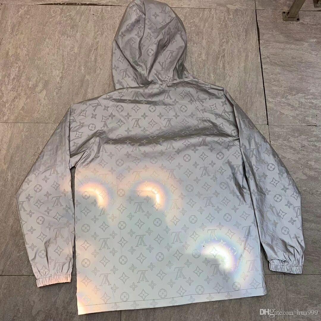 19 nuova chiusura lampo di modo di marca con il cappotto lettera modello animale di abbigliamento di lusso di tendenza della moda giacca uomo Medusa