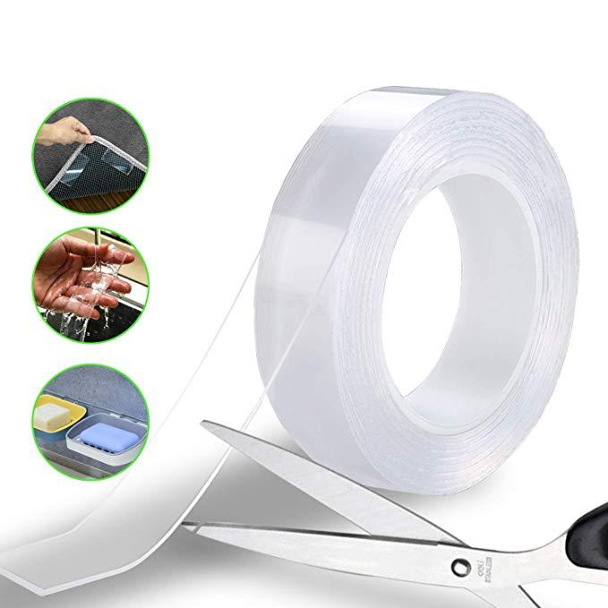 Reusable Removable Transparent Gel Pads Sticky Double Sided Adhesive Tape