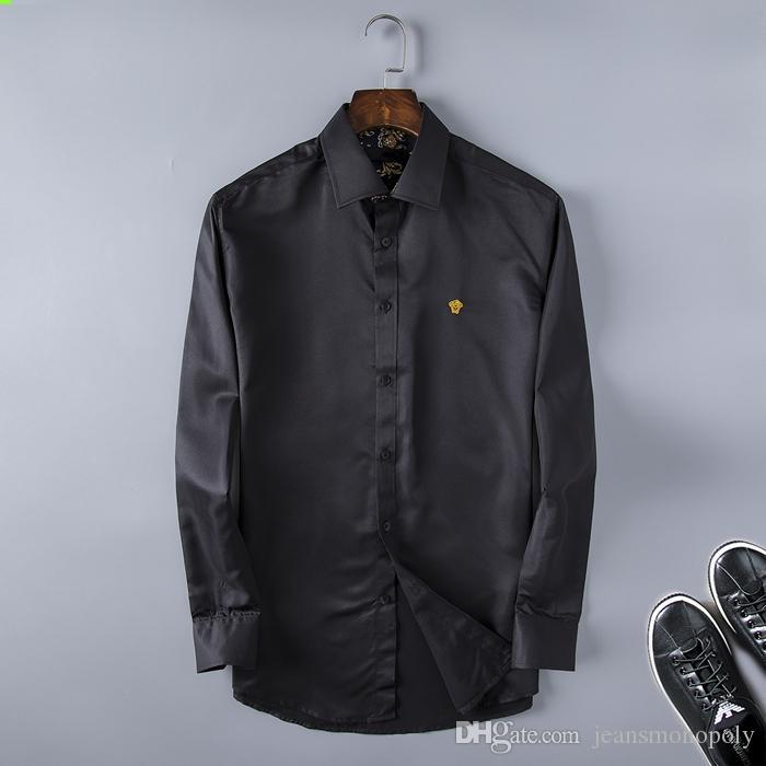 lüks tasarımcı flanel İş gömlek 2020 İtalyan moda erkekler rahat kısa kollu gömlek moda karışık renkli işlemeli Medusa gömlek