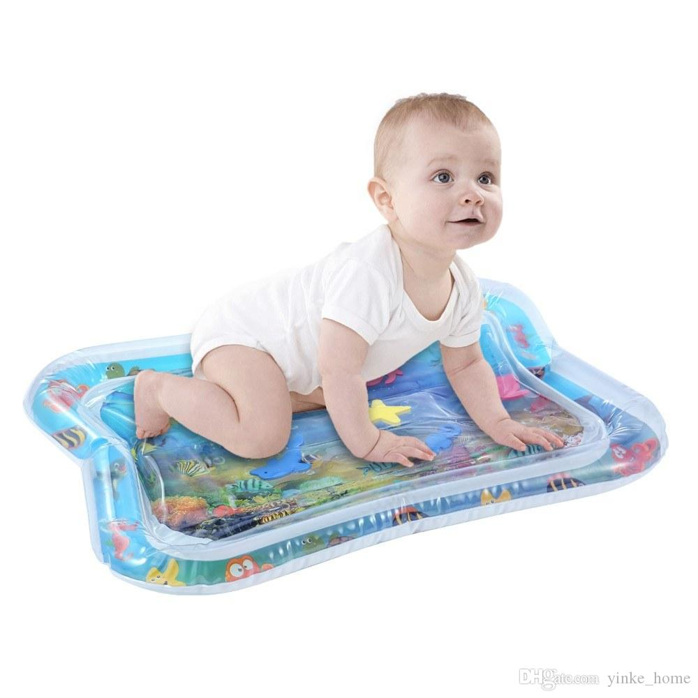 Baby Kids Inflatable Water Mat Games Play Pads Tummy Time Playmat Toddler Activity Play Center For Summer