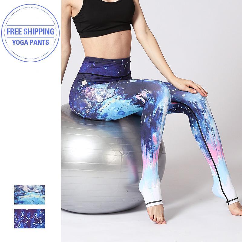 Femmes Fitness Leggings Leggings de yoga Yoga taille haute Pantalon Gym sans couture extensible Sport 2020 Courir Tight