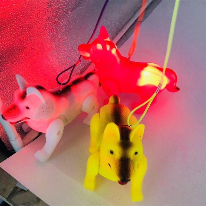 Талреп Волки Luminous ходьба Музыка Electric Собака Дети мигания движение подарок игрушки для детей Ночной рынок