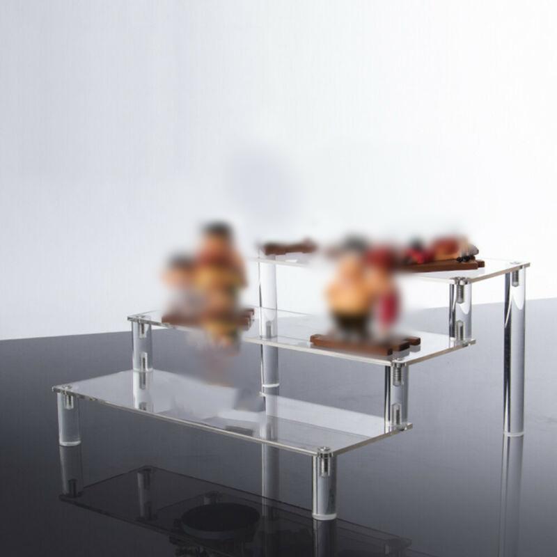 عرض أكريليك Stand Detachable 3 Tiers Salder Steps Shelf Rack For Dolly Toys Performance Storage Storage