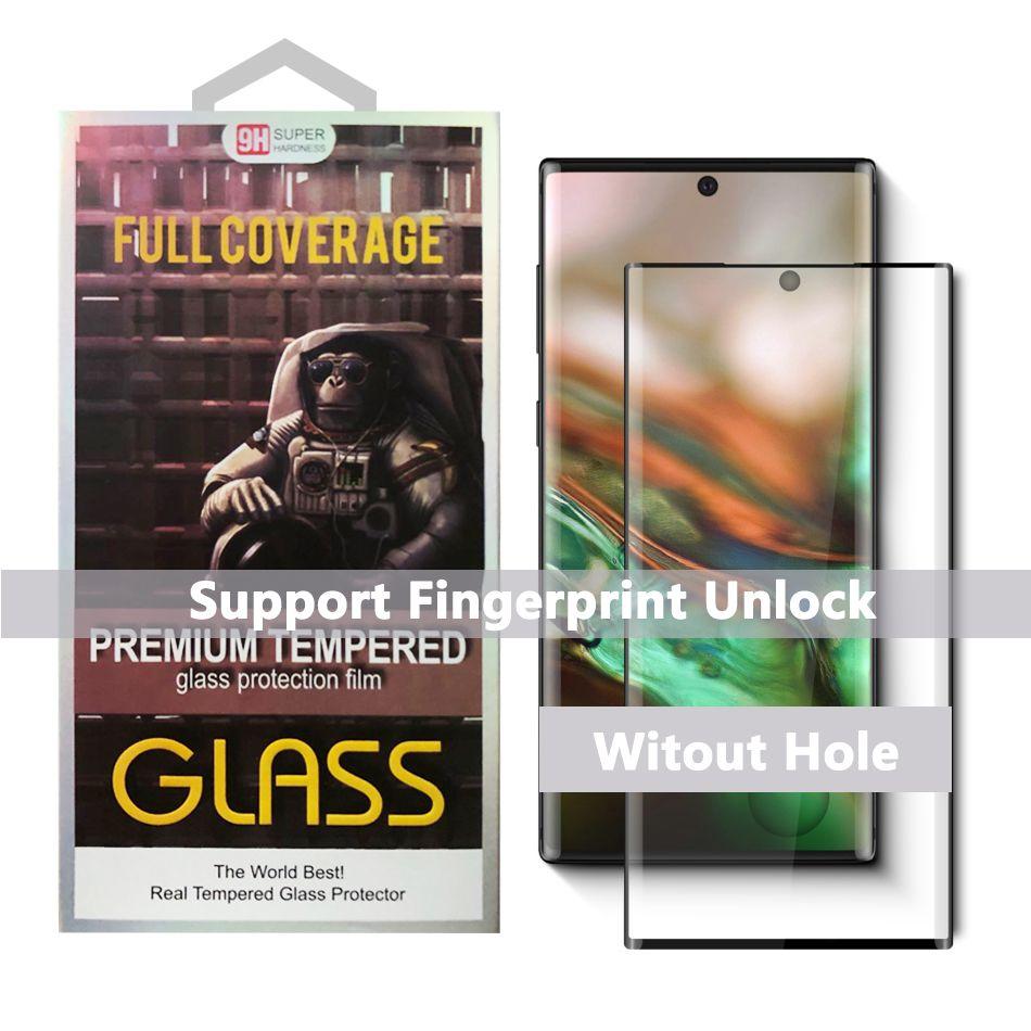 Für Samsung Galaxy Note 10 S10 Plus-S9 Plus-S8 Note8 Fall Freundlich 3D Gebogenes ausgeglichenen Glas-Schirm-Schutz für Huawei Mate30 Pro