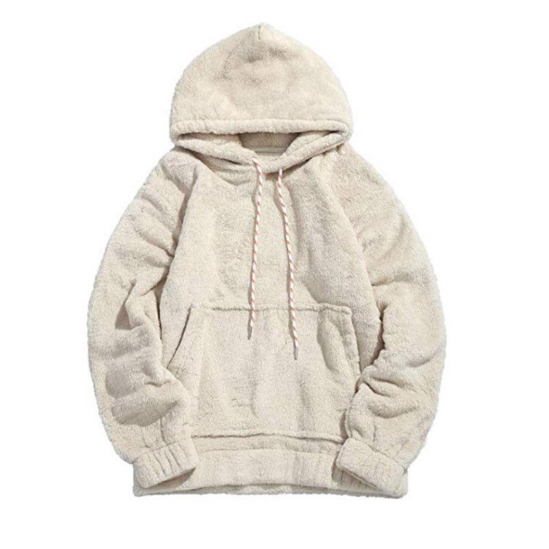 Art und Weise heißen Mann-Winter-warme starke Hoodie Fleece mit Kapuze Fest mit Hut Mantel Top mit Tasche Outwear