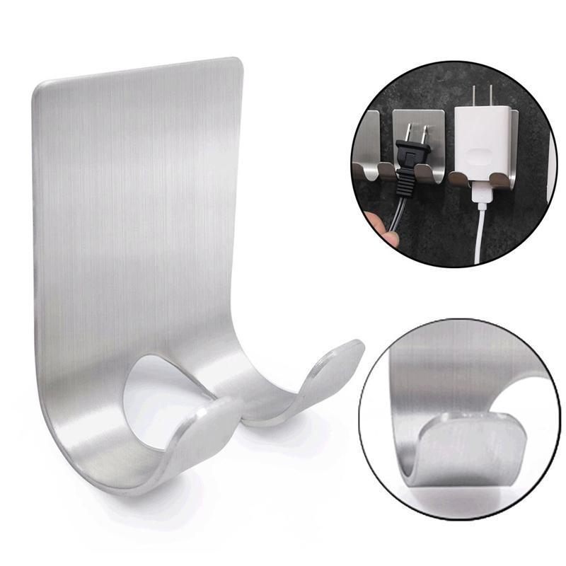 الفولاذ المقاوم للصدأ الحلاقة حامل التخزين هوك الحلاقة الحلاقة الجرف جدار لاصق هوك الرئيسية الحمام اكسسوارات HHA1186