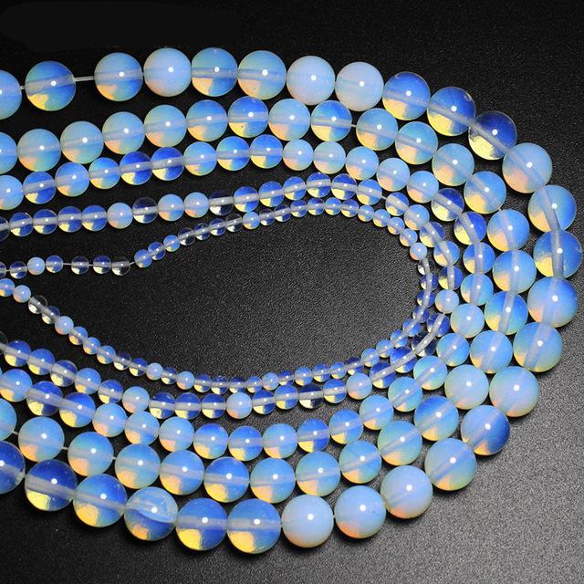 4 6 8 10 12 14mm Opaal Kralen Losse Kralen Semi-kostbare Natuurlijke edelstenen DIY Armband Ketting Sieraden Accessoires
