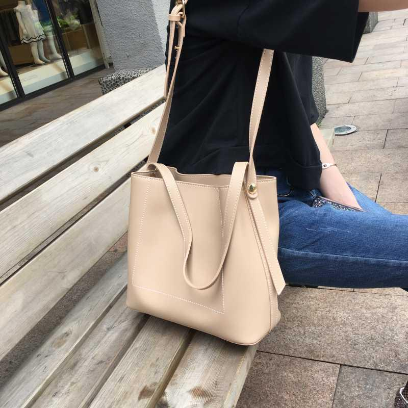 Femmes Casual Grand Cuir Cuir Handbags Sacs à main Capacité PU Sacs à bandoulière Simply Lady Bag Sacs Big Pursards LCVGQ