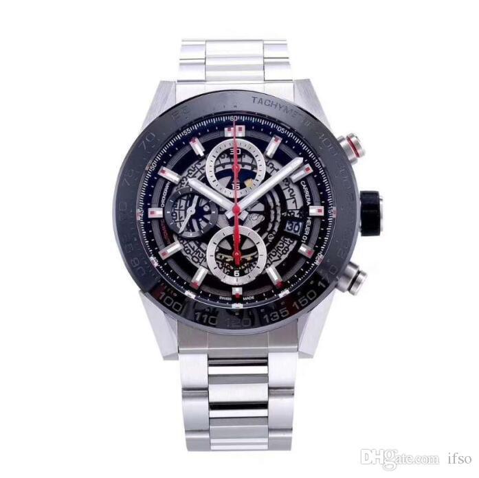 Erkekler Saatler özelleştirme Hareket Casual Paslanmaz Çelik Saatler Saatler Erkekler Otomatik İzle Kol saatı