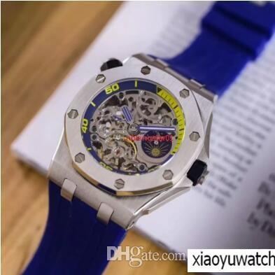 30b13d45349 2018 top britânico marca de luxo relógio dos homens reais novo 26221ET  mecânico automático 44mm clássico