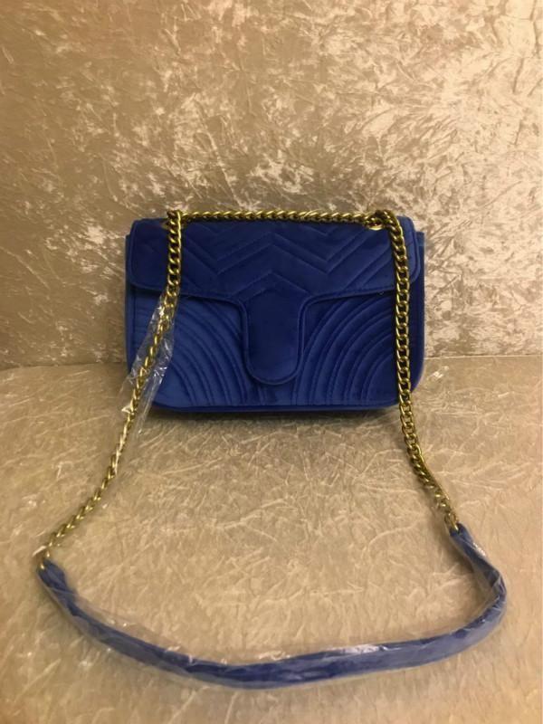 vendita superiore Fabbrica diretta 443497 Marmont Piccolo Chevron Velluto spalla borse del sacchetto di donne di lusso crossbody catena famosa borsa di progettazione